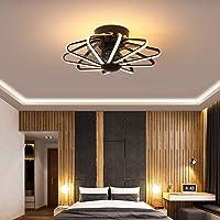 Oujie Led-plafondventilator met lamp en afstandsbediening, moderne plafondventilator en lamp voor slaapkamer en…