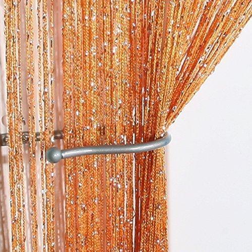 John Aird Jazz Glitter String Curtain Panel White Buy