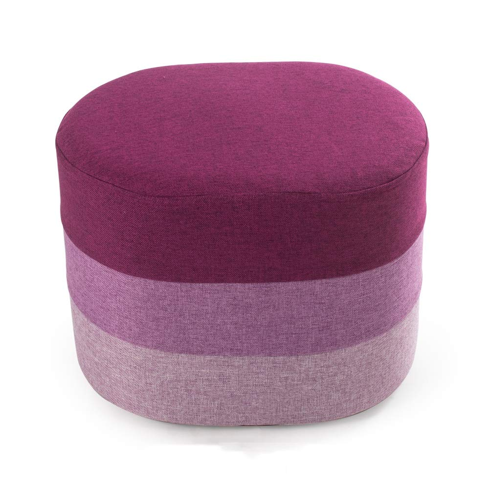 GL Multi-Colored Oval Cube Style Filled Multi-Function Stool - 40cm Length 30cm Width 30cm Height (Color : A)
