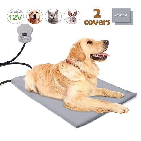 BACKTURE Manta Eléctrica para Perros y Gatos, Almohadilla Térmica Mascotas Temperatura 7 Niveles con Calefacción Constante Inteligente, Cojín De ...