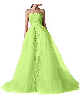 VICTORIA BRIDAL Princess Ball Gown Floral Appliques Bridal Gown Prom Party Dress-2-Apple