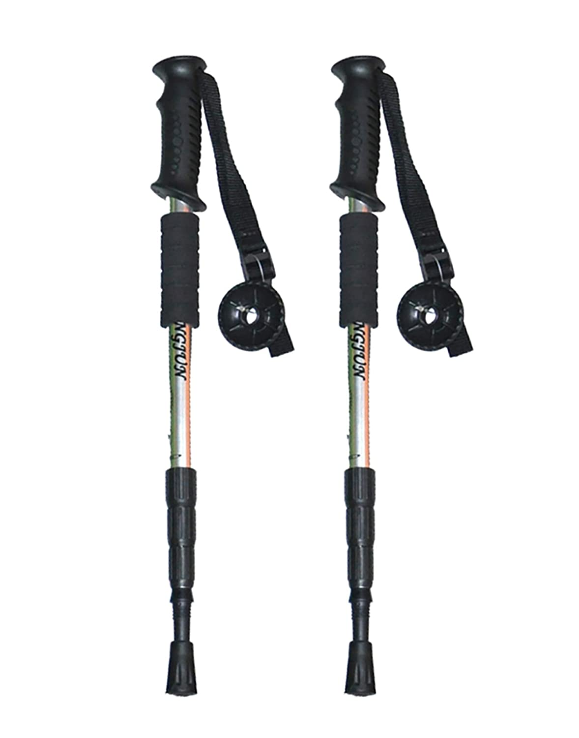 Trekking Poles Collapsible Lightweight Anti-Shock Walking Hiking Sticks Pair for Womens Mens Trek
