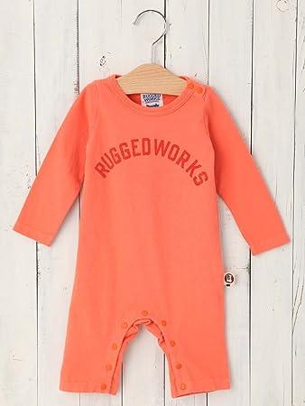 f45ed9243622f RUGGED WORKS ( ラゲッドワークス ) 日本 製 ベビー ロゴ ロンパース 赤ちゃん 男の子 女の子 長袖