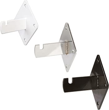 """Black 12PK Only Hangers 12/"""" Gridwall Faceout for Gridwall"""