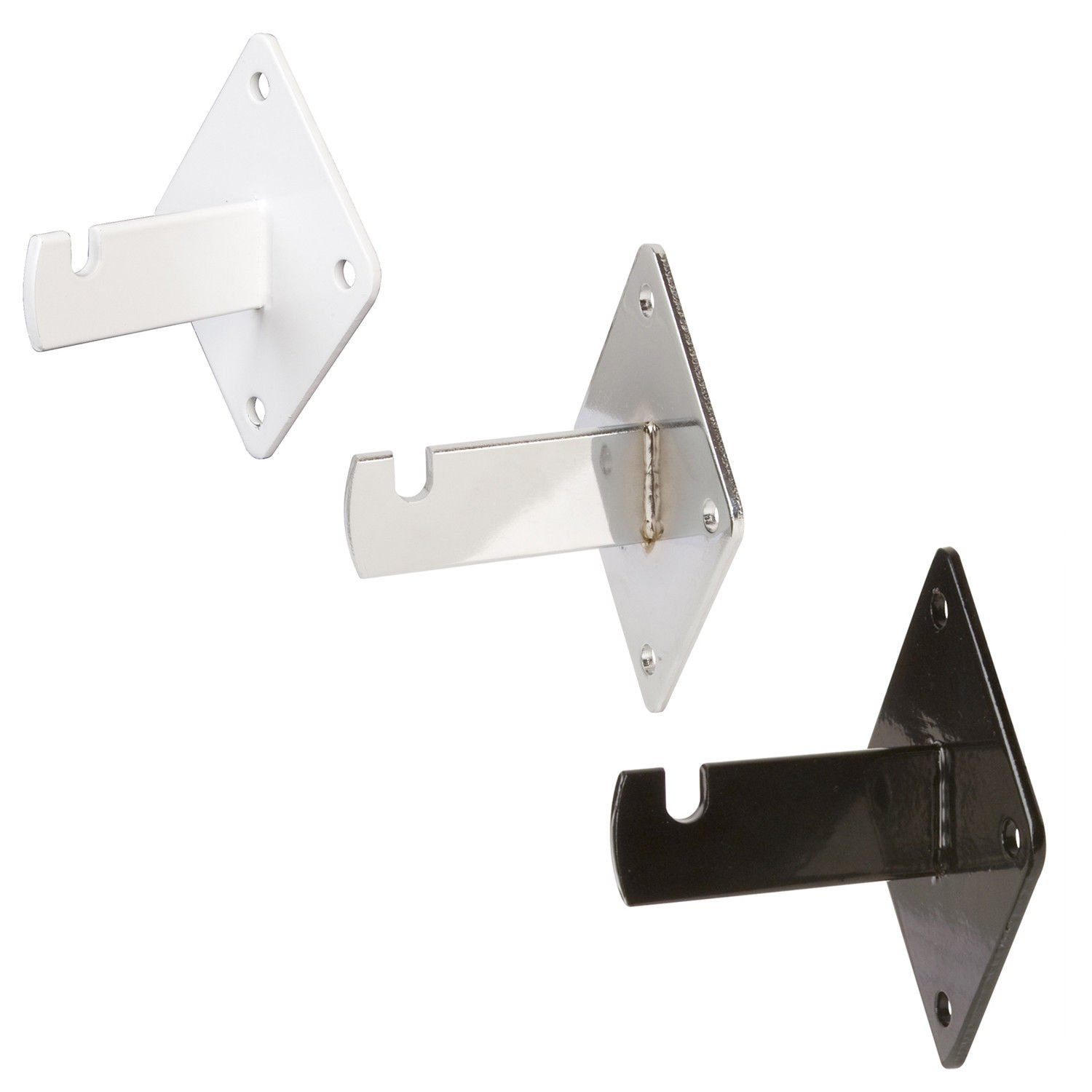 Gridwall Wall Mount Brackets - Heavy Duty Grid Panel Mounting Hangers - 40 Pack - White