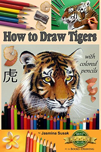how to draw tigers with colored pencils how to draw realistic wild