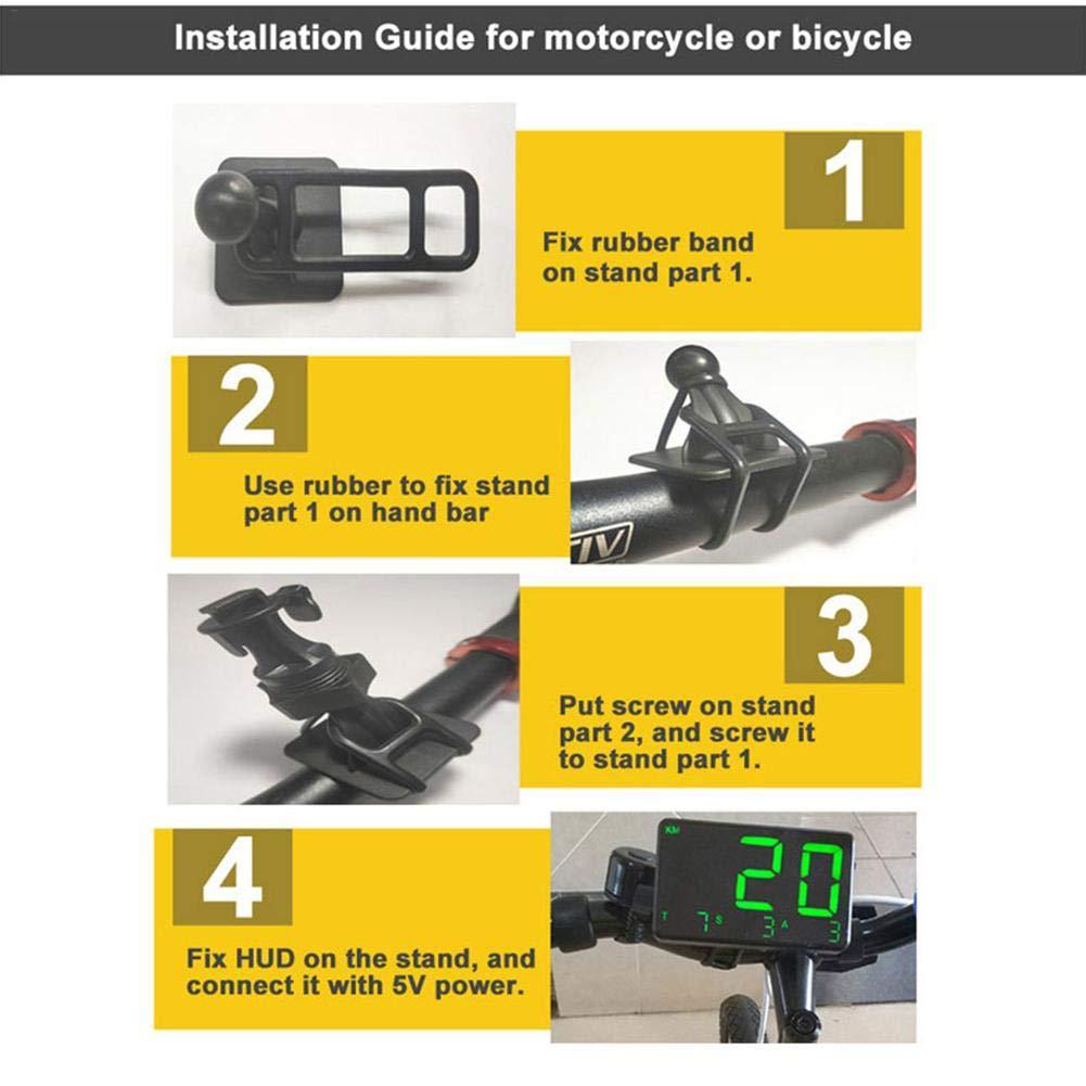 indicatore di velocit/à KM//h mph Luce Verde con avviso di velocit/à per Auto Moto Moto Lembeauty Tachimetro GPS Digitale Universale per Auto C80