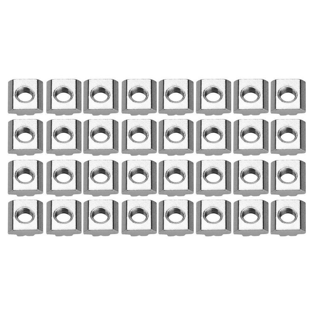 Bocotoer Muttern Nutenstein T-Nut Kohlenstoffstahl Mutter Schiebe T-Nutmutter Packung mit 50 St/ück