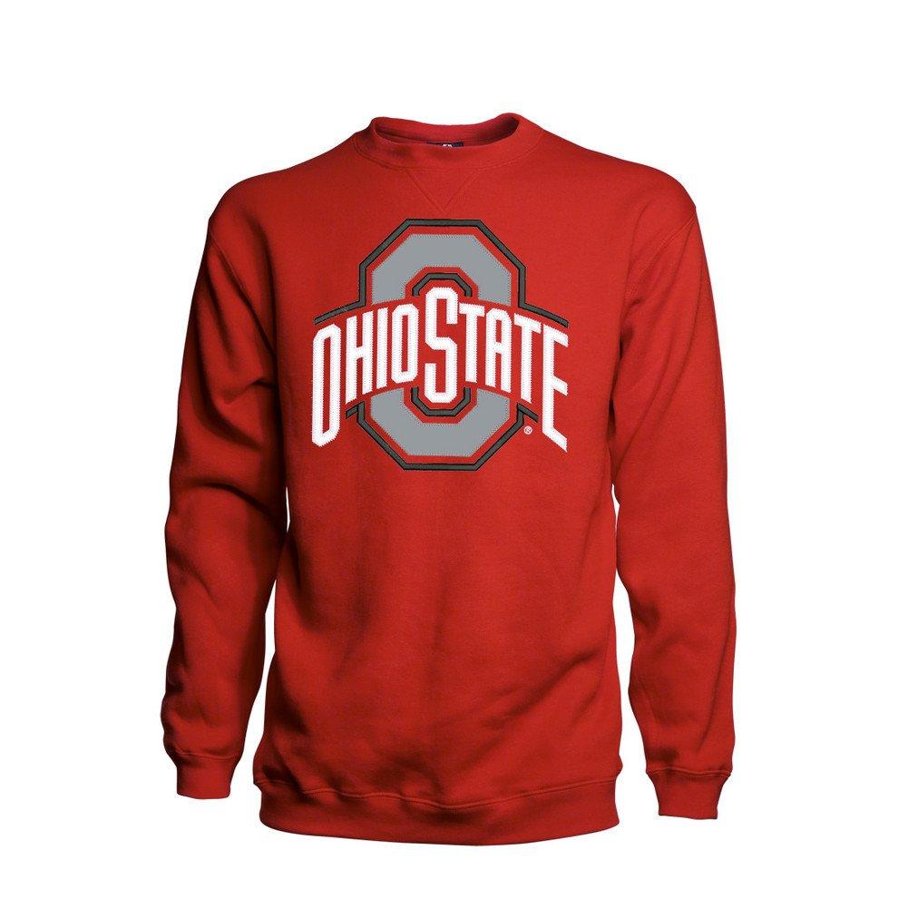 Top2  Elite Fan Shop Ohio State Buckeyes Crewneck Sweatshirt Red Applique 8b056c1a7