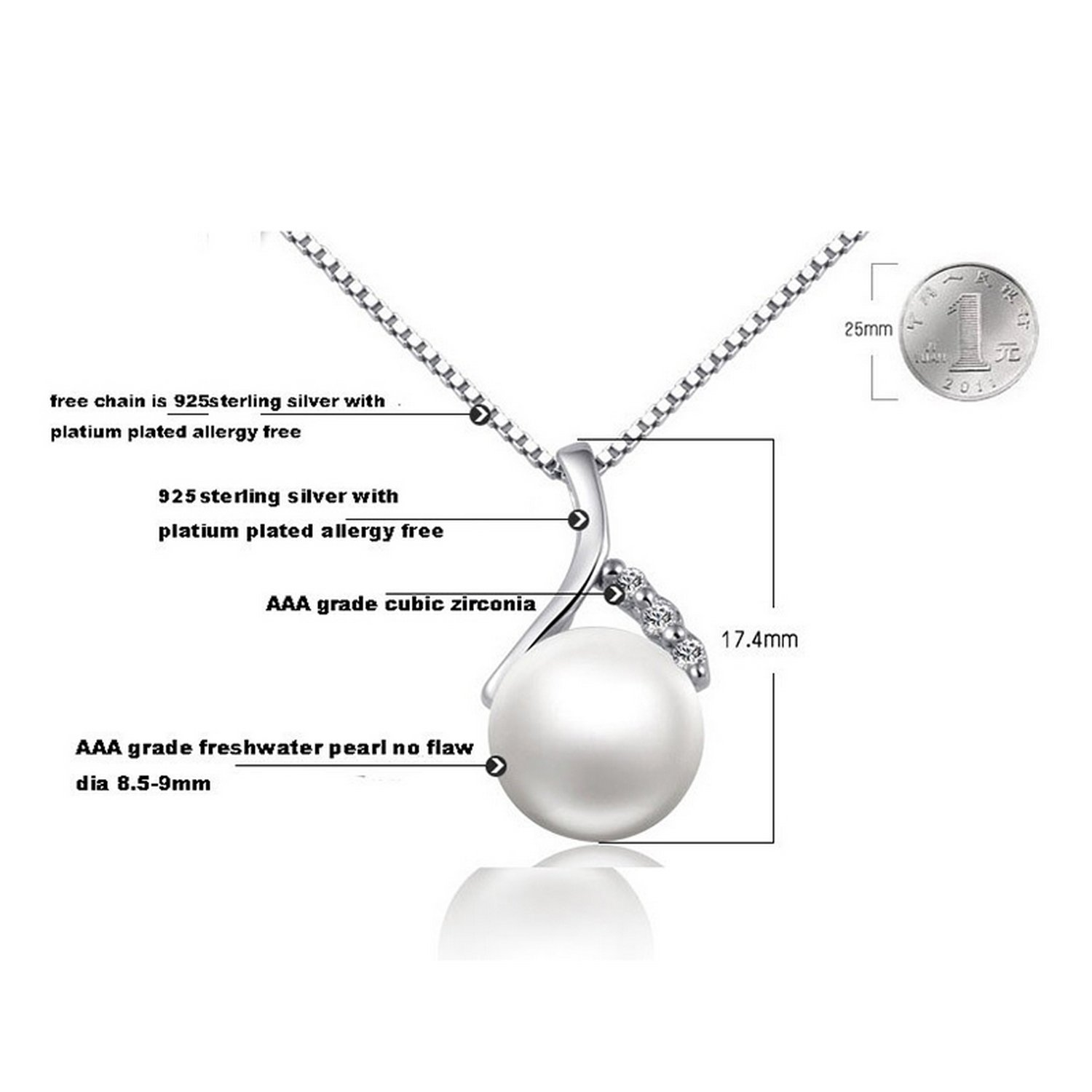 CS-DB Jewelry Silver Girls Lover Gift Chain Charm Pendants Necklaces