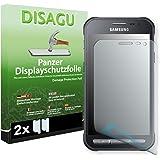 Samsung Galaxy Xcover 3 (SM-G388F) Displayschutzfolie - 2 x Disagu Panzerfolie für Samsung Galaxy Xcover 3 (SM-G388F) Bruchschutzfolie