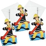 Sam Le Pompier - Fireman Sam - Party Anniversaire Cartes D'invitation 8 pcs.