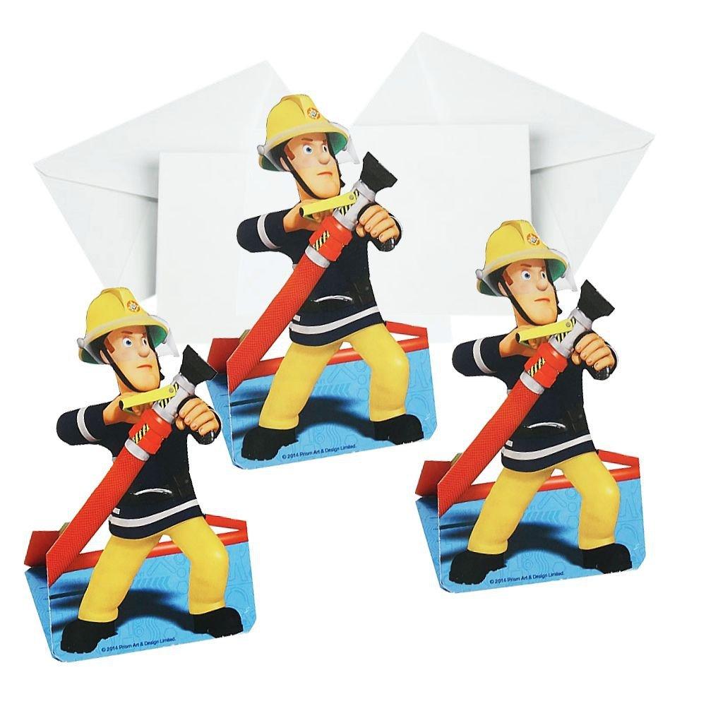 Sam, el bombero Invitación Fiesta Fireman | 8 Piezas Niños ...