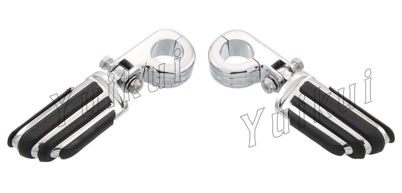 YUIKUI RACING オートバイ汎用 1-1/4インチ/32mmエンジンガードのパイプ径に対応 ハイウェイフットペグ タンデムペグ ステップ HONDA SHADOW VT 600/VLX/DLX All years等適用   B07PSG6YH8