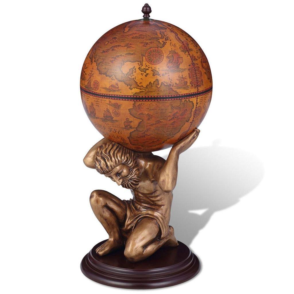 vidaXL Bar globe terrestre - armoire à vin Atlas 42 x 85 cm