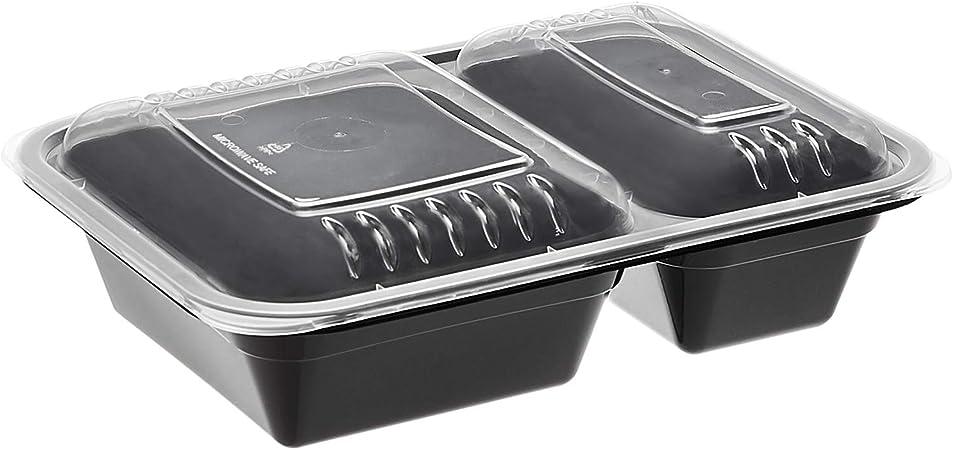 AmazonBasics - Contenedores de comida de 2 compartimentos, sin BPA ...