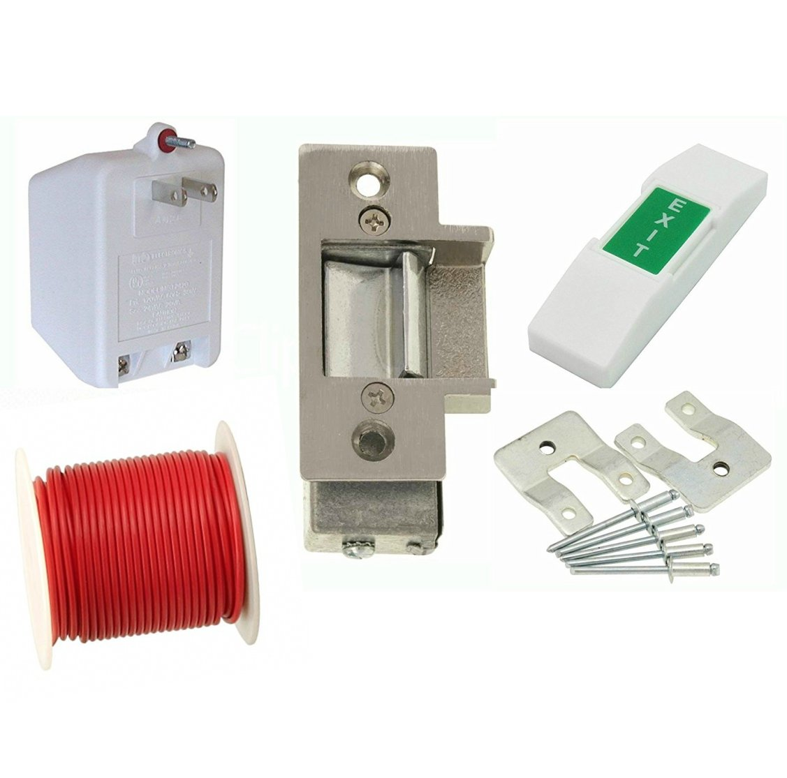 amazoncom electric strike door lock kit 14 c for metal frame