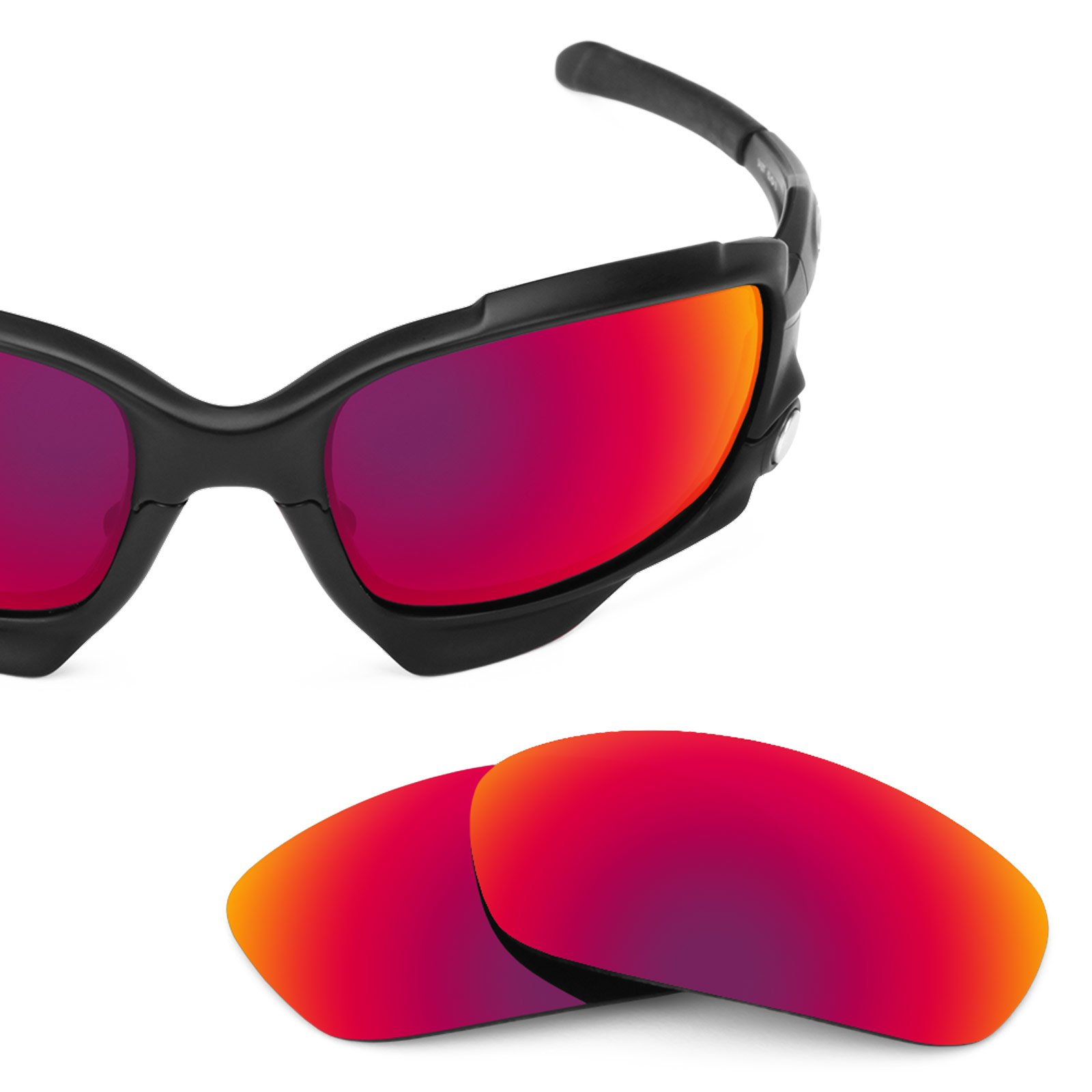 Revant Polarized Replacement Lenses for Oakley Racing Jacket Midnight Sun MirrorShield Asian Fit by Revant