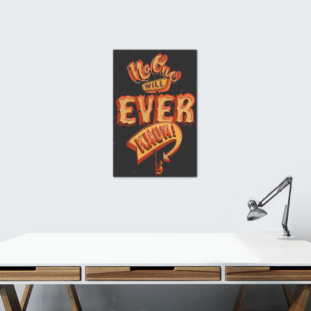 iCanvasART No One Will Ever Know Canvas Print by Jeff Rogers 26 x 18