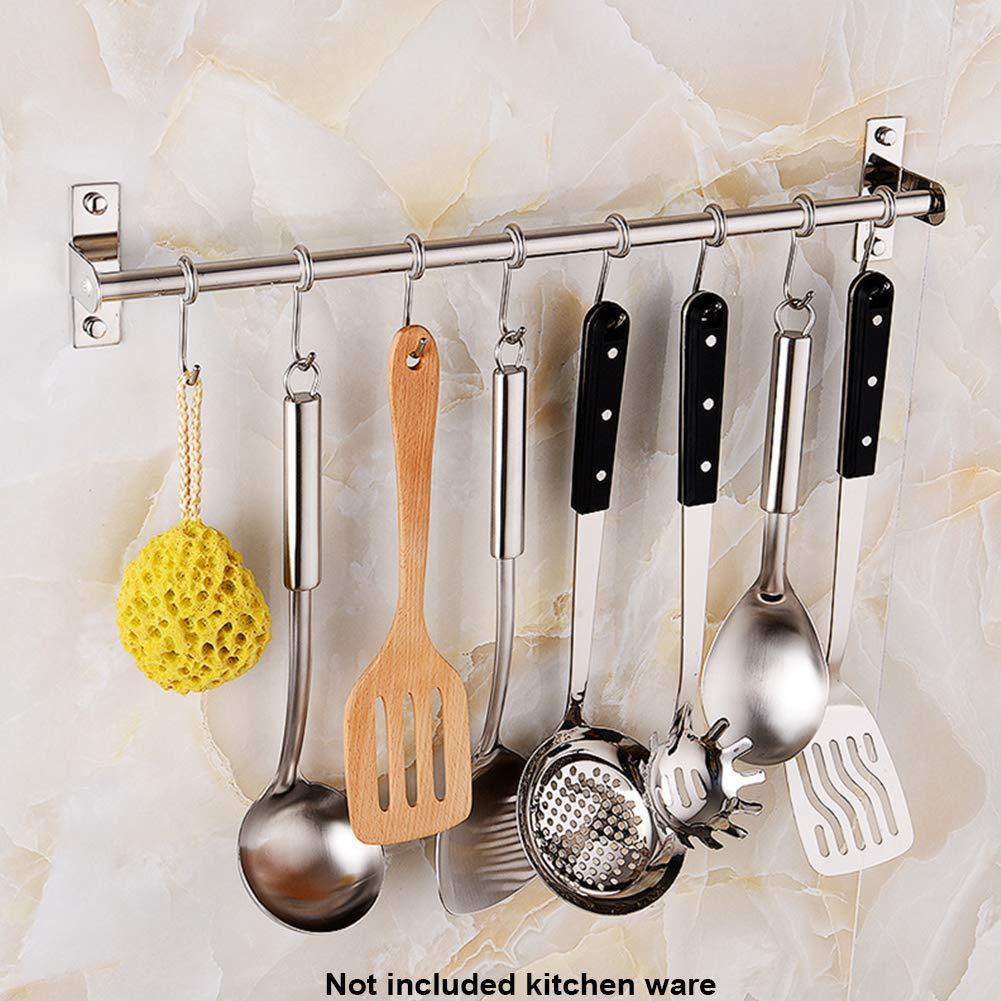 Perchero de cocina para colgar, de acero inoxidable, con 6 ganchos 8 hooks 8 Hooks: Amazon.es: Hogar