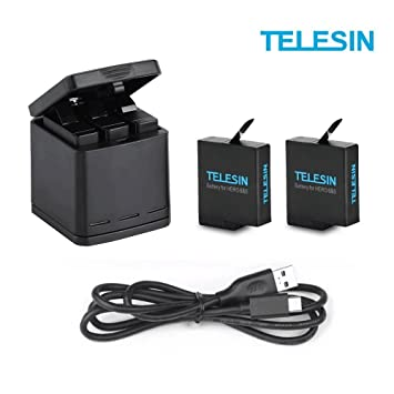 TELESIN Chargeur de Batterie Triple Set Chargeur