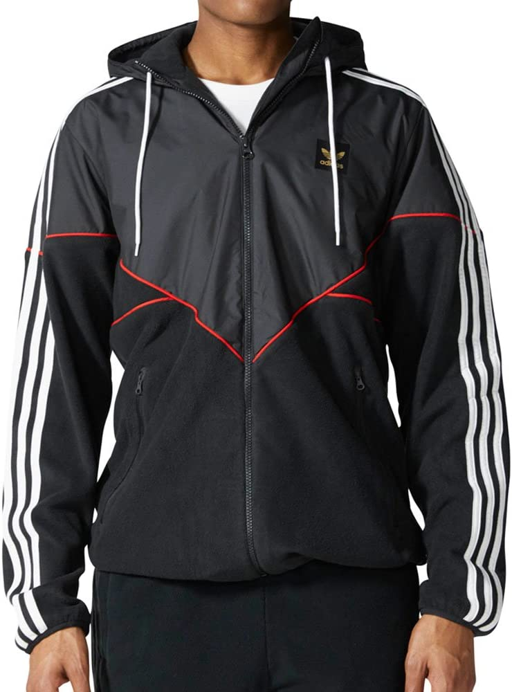 BR4016 Utility Black Scarlet Adidas Premire Fleece Zip Up Jacket  Black