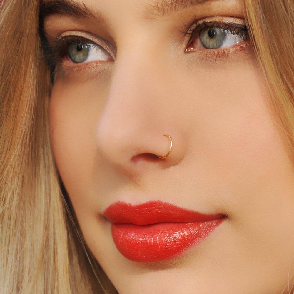Amazon Com Fake Nose Ring Faux Gold Filled Nose Rings Fake Body
