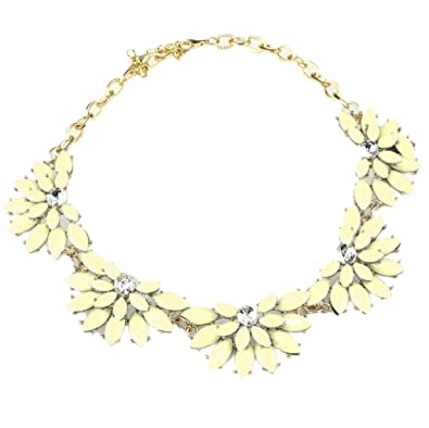 Ukamshop(TM)Women Lady Fashion Crystal Flower Pearl Resin Chunky Necklace Pendant yFMYPITM0