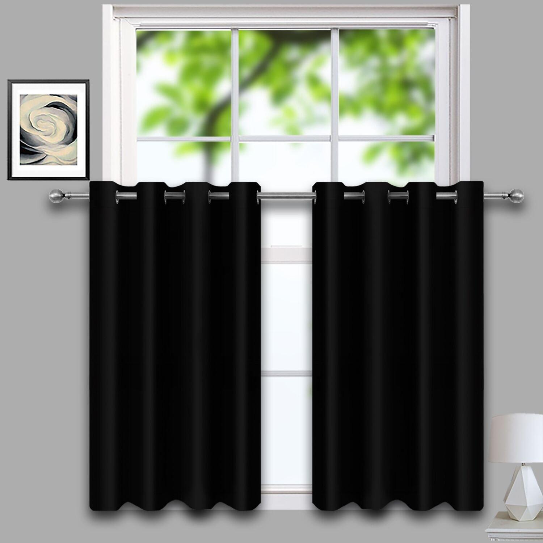 Amazoncom Lifonder Bedroom Blackout Curtain Tiers Thermal