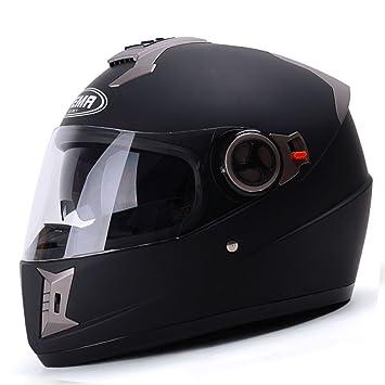 YUJIE Astone Black Scrub Motocicleta Casco, Personalizado Modular Jet Motocross Motocicleta Casco Tamaño Completo L