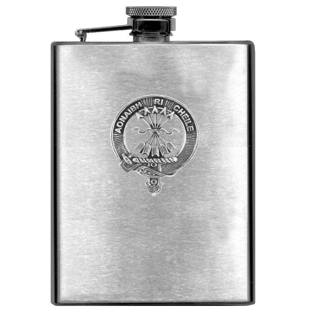 Cameron Scottish Clan Stainless Steel 8oz Flask