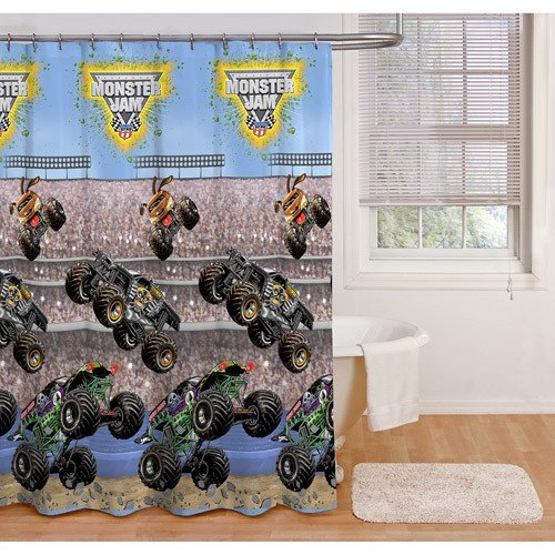 . Amazon com  1 X Monster Jams Shower Curtain 70  x 72   Home   Kitchen