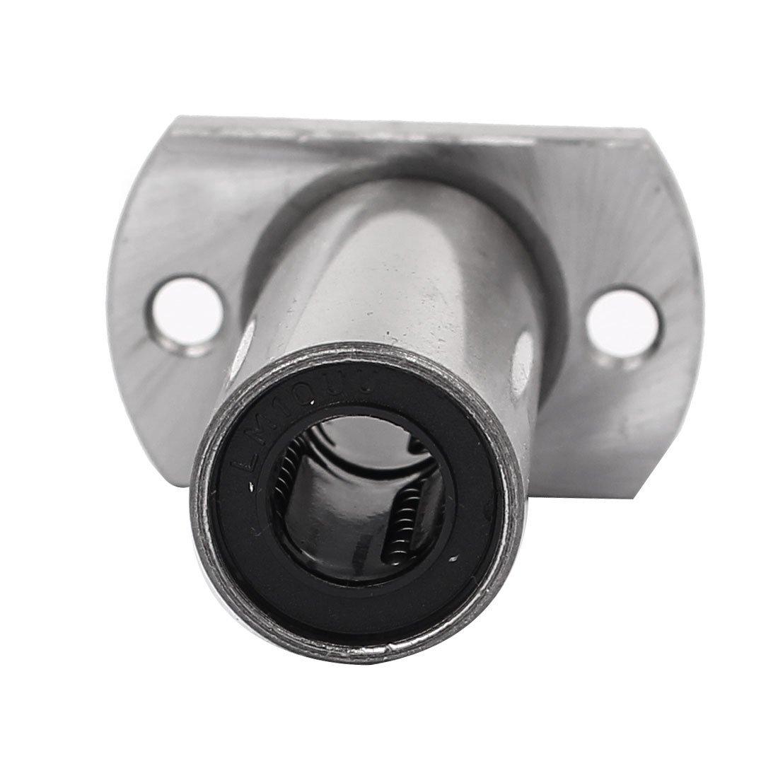 DealMux LMH10LUU 10mm Dia interior del /óvalo Brida Montada del movimiento linear del buje cojinete de bolas