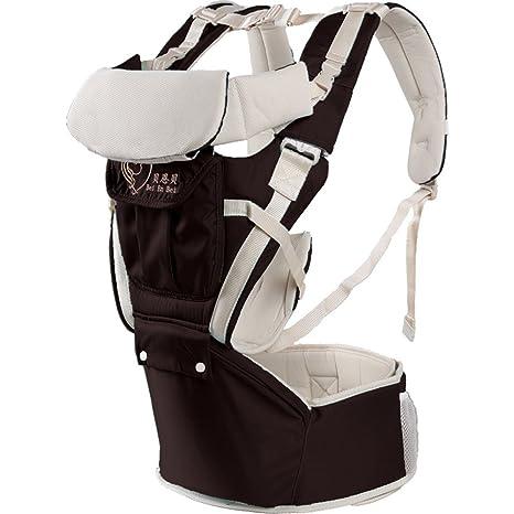 Portabebés delantero y trasero ajustables 4 posiciones de mochila mochila suave estructurado ergonómico para recién nacidos