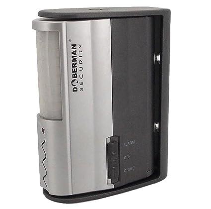Doberman Seguridad Detector de alarma con sensor infrarrojo de movimiento y alto 100 db alarma o