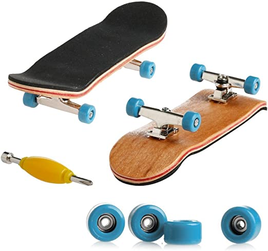 Professional Mini Maple Wooden Tech Deck Fingerboards Finger Skateboard For Kids 1 Pack Light Blue Amazon Ca Home Kitchen
