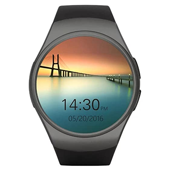 KW18 Smart Watch Android/IOS SAMRT BANDS Bluetooth Reloj Inteligente SIM Round Heart Rate (