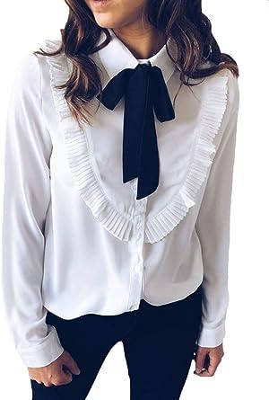 BIRAN-5 Mujer Camisetas Casual Manga Larga O Único Cuello Pullover Classic Crop Top Cómodo Camisas Bonita Hipster: Amazon.es: Ropa y accesorios