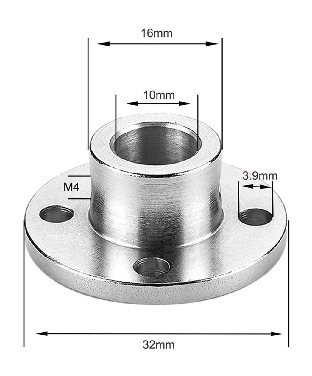 4 St/ück Flansch-Kupplungsverbinder starre F/ührungsmodell-Kupplung 4 3mm Schaft-Achsen-Armaturen f/ür DIY-RC-Modell-Motoren Zubeh/ör