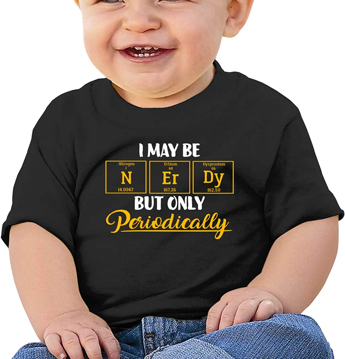 I May Be Nerdy But Only Periodically Cotton Toddler Girls Top Short Sleeve