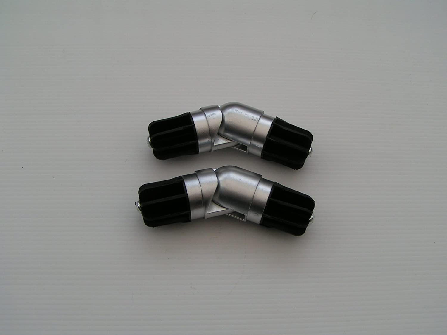 Bay windows and corner curtain rods apps directories - 2 X 28mm Chrome Bay Window Curtain Pole Elbow Joint Connector