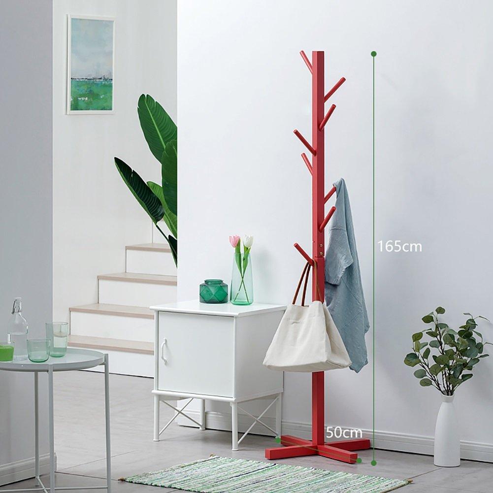 LFF- Semplice appendiabiti da terra in legno massello Facile da installare Soggiorno Appendiabiti da camera semplice Semplicità 50 × 165 cm (Colore : Natural color)