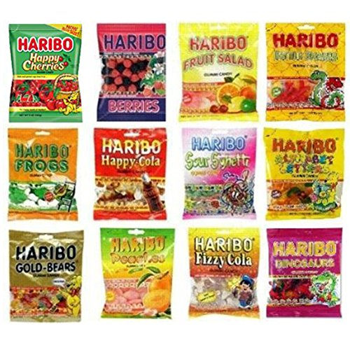 Haribo Gummy Gummies Candy Assorted Variety (Pack of 12) ()