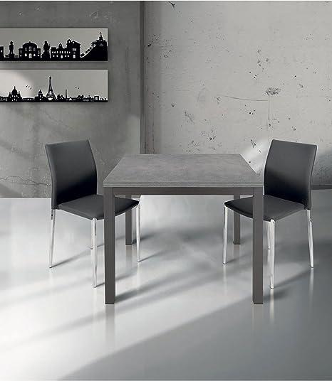 Spazio Casa Tavolo Quadrato Con Apertura A Libro 90 X 90 Bianco Sala Da Pranzo Casa E Cucina