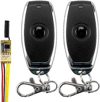 Anntem 433mhz remote control dc3.5 3.7v 9v 12v 1ch channel battery power switch