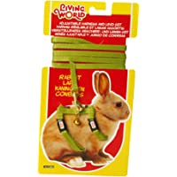 Living World Adjustable Harness and Lead Set for Rabbits, Green