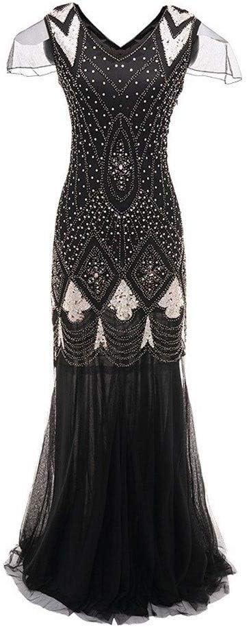 HKD Vestido De Gatsby, Vestido De Noche Vestido De Lentejuelas De ...