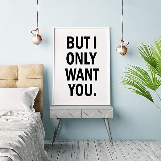 ACYKM Pero Solo te Quiero Impresión en Lienzo Amor Pintura ...