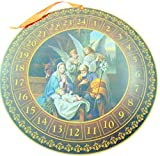 Round Nativity Advent Calendar Christmas Home Decoration Gift 13 3/4 Inch Dia