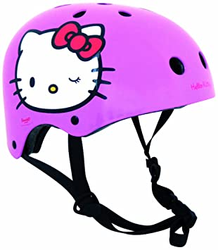 Hello Kitty - Casco tamano XS (51-53 cm), color rosa